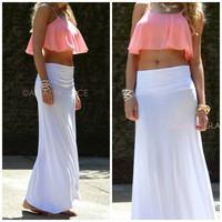 Summerland White Maxi Skirt