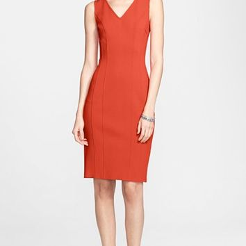 Women's St. John Collection Multi Seam Luxe Sculpture Knit Dress