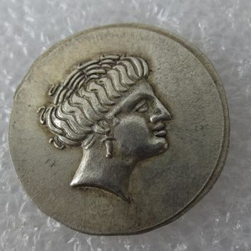 Type:#G10 Rare Ancient Greek Coin (Euboia) -338-308 1 Drachm Copy Coin