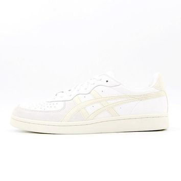 asics onitsuka tiger gsm white unisex running shoes sneakers trainers  number 1