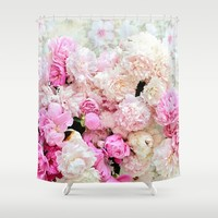 summer peonies Shower Curtain by sylviacookphotography