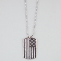 Blue Crown America Dogtag Silver One Size For Men 21634014001