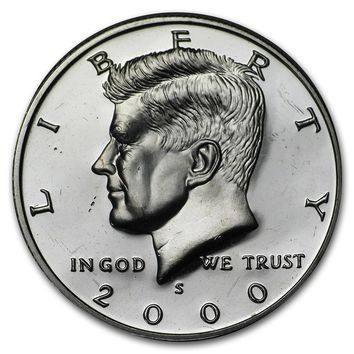 2000-S 90% Silver Kennedy Half Dollar Gem Proof