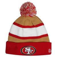 New Era San Francisco 49ers 2013 On-Field Player Sideline Sport Knit Hat - Scarlet/Gold