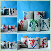 New Created Marvel Characters Cotton Linen Pillowcase  Decorative Pillows Home Decor Sofa Throw Pillow Cushion 45x45cm