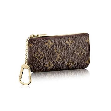 LV Louis Vuitton Popular Simple Monogram Canvas Key Pouch I