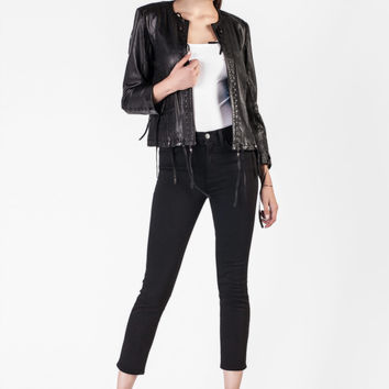S.W.O.R.D  -  Fringed Black Leather Jacket