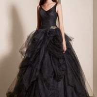 Tulle Ball Gown with Pick Up Skirt - David's Bridal