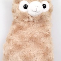 Alpaca Llama Plush Pencil / Cosmetic Pouch Bag Purse (Brown)