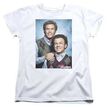 Step Brothers Womens T-Shirt Portrait White Tee