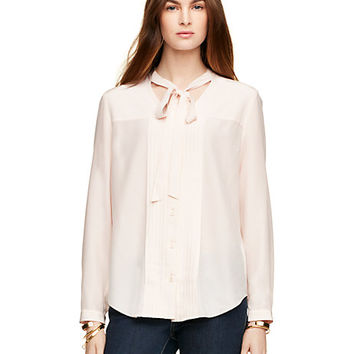 Kate Spade Tie Front Pleated Top Ballerina Pink