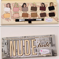 "Cosmetic ""The Balm"" Nude 12 Color Nude Color Eye Shadow Plate Smoky Makeup"