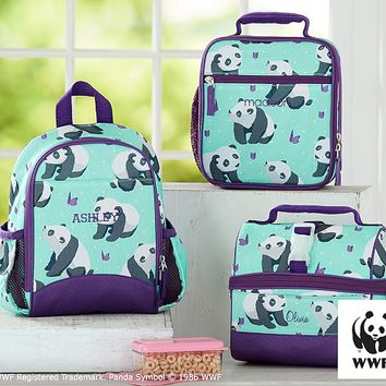 Mackenzie Aqua Panda Lunch Bag