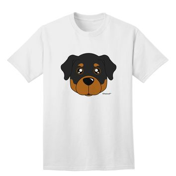 Cute Rottweiler Dog Adult T-Shirt by TooLoud