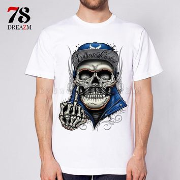 male Death funny Skull Anime Creative T-shirt Fashion Novelty Style Tee Cool Men T shirt