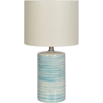 Better Homes and Gardens Teal Swirled Ceramic Table Lamp