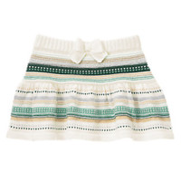 Multi-Striped Knit Skirt
