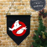 Halloween baner flag, Ghostbusters , Halloween Decor, Halloween banner, ghostbusters party ,wall hanging decoration funny gifts