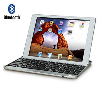 iPad & mini Space Age High Grade Aluminium case with Bluetooth keyboard