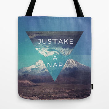 Just Take A Nap Tote Bag by MidnightCoffee