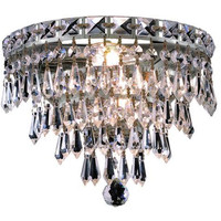 Karci - Wall Sconce w/ Neck (3 Light Modern Crystal Wall Sconce) - 2148W12