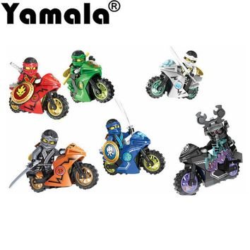 258A Hot Ninja Motorcycle Building Blocks Bricks toys Compatible  legoINGly Ninjagoed  Ninja for kids gifts