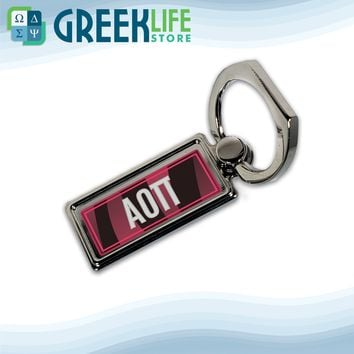 Alpha Omicron Pi Ring Stand Phone Holder (Rectangular)