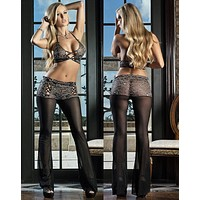 Women's pajamas Sexy Lingerie Lace Bra and Lingerie Pants house wear