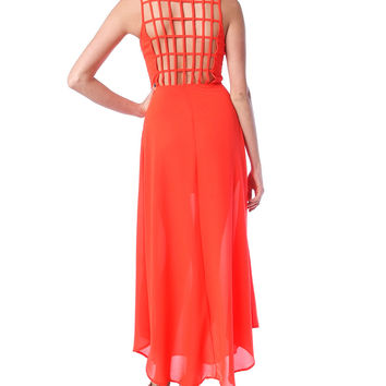 Grand Entry Maxi Dress - Red