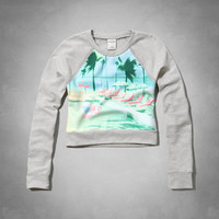floral graphic crew sweatshirt