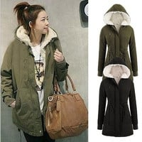 Women Thicken Warm Winter Coat Hood Parka Overcoat Long Jacket Outwear = 1930529988