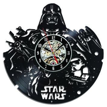Vinyl Record Wall Clock Star Wars