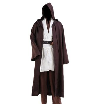 Star Wars Jedi Cloak Cosplay Costumes Adult Men Hooded Robe Cloak Cape
