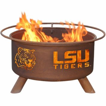 LSU Steel Fire Pit by Patina Products