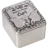 "Disney Dumbo First Curl Box, ""Baby's First Curl"", Zinc Alloy"