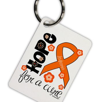 Hope for a Cure - Orange Ribbon Leukemia - Flowers Aluminum Keyring Tag