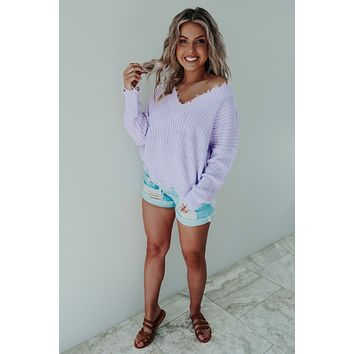 Brighten My Day Sweater: Lilac