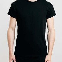 BLACK ROLLER CREW NECK T-SHIRT
