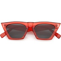 Women's Retro Oversize Wide Pointed Cat Eye Sunglasses C921