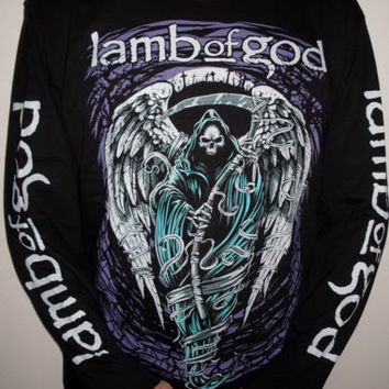 Lamb Of God Reaper long sleeve T-Shirt Size S M L 2XL 3XL XXL XXXL Metal Band