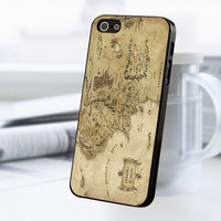 World Map The Hobbit iPhone 5 Or 5S Case