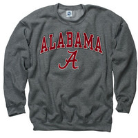 Alabama Crimson Tide Dark Heather Perennial II Crewneck Sweatshirt