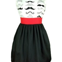 "Women's ""Head Over Wheels Mustache"" Dress by Hemet"