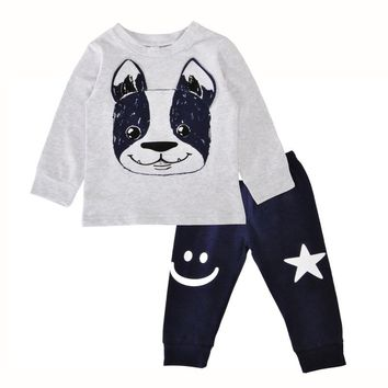 Adorable, 2Pc Boy's Best Friend Doggie Outfit. Sizes 3, 6, 12, And 18 Months