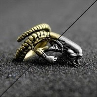 Free Shipping New Vintage Anime Movie Alien Ring Jewelry Steampunk Punk Gothic Style Adjustable Rings For Men Women dropshipping
