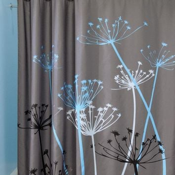 180x180cm 3D Dandelion Shower Curtains High Quality Midlewproof with Hooks