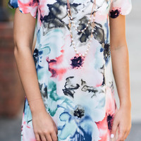 Watercolor Ways Dress, Mint