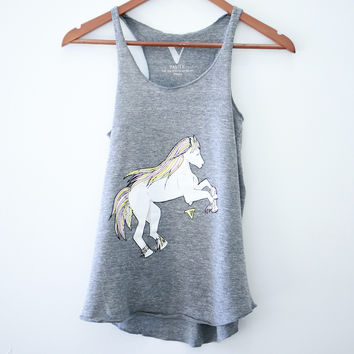 Magical Horses Tank in Grey [Benefit for Rosemary Farm Sanctuary]