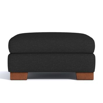 Melrose Large Ottoman in CHARCOAL - CLEARANCE