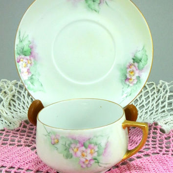Moritz Zdekauer Austria Cup and Saucer Antique Artist Signed and Dated 1913